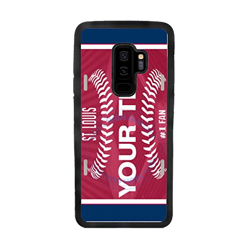 BleuReign(TM) Personalized Custom Name Baseball St. LouisTPU Rubber Silicone Phone Case Back Cover for Samsung Galaxy S9 Plus