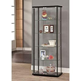 Coaster Home Furnishings Curio Cabinet , Black