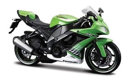 Maisto 1/12 Kawasaki 2010 Ninja ZX-10R Die Cast Motorcycle (Green)