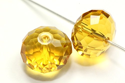 6 Padparadscha Swarovski 5040 Rondelles Rondell Crystal Beads 6mm