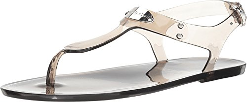 Michael Kors Plate PVC Jelly Sandals in Smoke Size 10 ()
