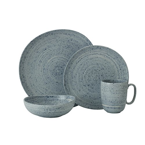 - Mikasa 5229308 Whistler 4-Piece Place Setting, Service for 1, Blue