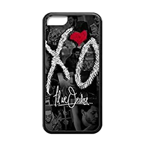 Black, 5C Case - The Weeknd XO Logo Photo Design Durable Rubber Tpu Silicone Case Cover For Apple iPhone 5C