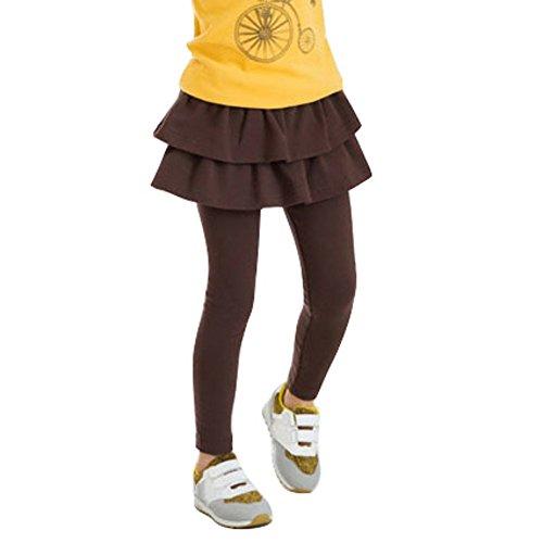 EFINNY Toddler Girls Leggings Baby Tutu Cake Skirt Trousers Tights Pants 3-11Y ()