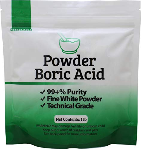 Duda Energy borp1 Fine Powder Boric Acid H3BO3 99, 1 lb. (Packaging may vary) (Boric Acid And Sugar Recipe For Ants)