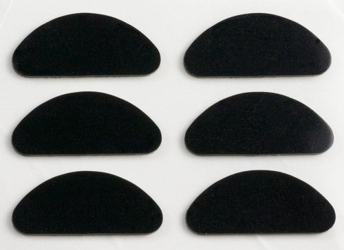 GMS Optical® Premium Grade Half Moon Silicone Nose Pads (1 Unit - 3 PR, - Pads Nose Sunglasses Jim Maui For