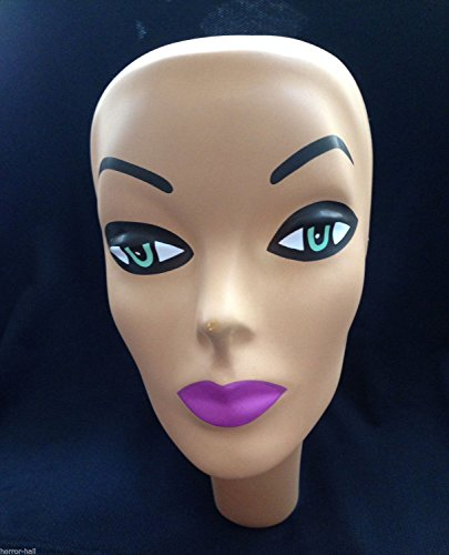 Horror-Hall Prop Building Supply-MANNEQUIN HEAD FORM FACE COVER-Halloween costume Mask-WOMAN -