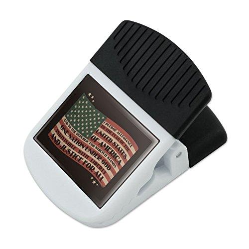 (USA Vintage Flag Pledge of Allegiance Refrigerator Fridge Magnet Magnetic Hanging Hook Note Snack Clip)