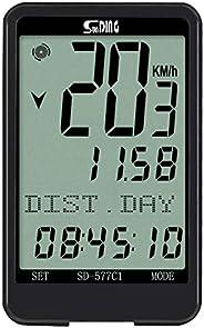 Sunding Bicycle Speedometer Odometer Multifunction Bicycle Computer Bike Rainproof Speedometer Odometer Cyclin