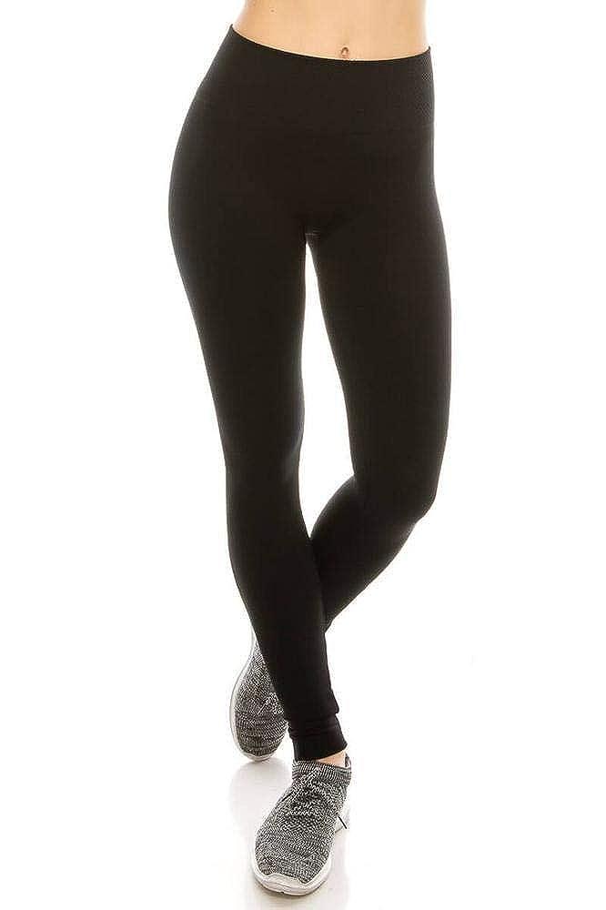 SALT TREE Womens Textured Soft Plush Insert 4 Waistband Basic Legging