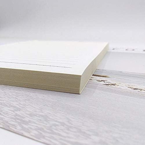 A4 Lose-Leaf Refill 80 Blatt 4-fach liniertes Papier liniert lose Blätter Tagebucheinlagen geeignet praktisch für nachfüllbares Notizbuch 80 sheets blank kraft paper