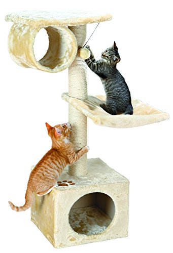 TRIXIE Pet Products San Fernando Cat Tree (Beige) (Condo Penthouse)