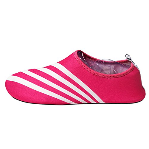 Lucdespo shoes stripes shoes antiskid beach barefoot care shoes and treadmill diving white red swimming skin Sports Nine rw8Aqar