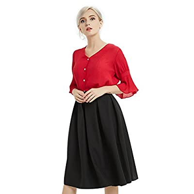Chérie Fille Women's A Line Flared Skirt Casual Mini Skater Skirt