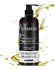 شامبو ضد القشرة بزيت الأرجان, lonstin Mild Anti-Dandruff Shampoo with Argan Oil for Sensitive Scalps Unisex, 500ml