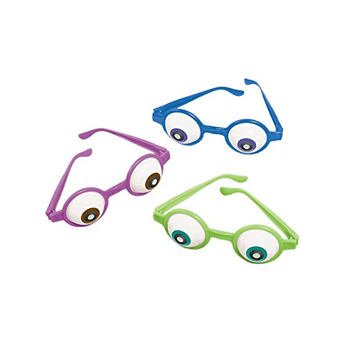 Monster University Boo Costume (Amscan Mons Terrific Disney Monsters University Eyeball Glasses Costume Party Accessory Favor and Prize Giveaway (6 Piece), Multicolor, 5 1/2