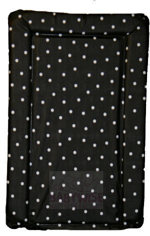 79b7b79ea18a SUPER SOFT PADDED WATERPROOF BABY CHANGING MAT - BLACK WITH WHITE SPOT:  Amazon.co.uk: Kitchen & Home