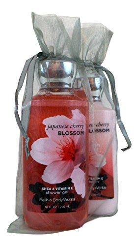 Bath & Body Works Gift Set Bundle of Shower Gel and Body Lotion (Japanese Cherry Blossom) - Cherry Bundle