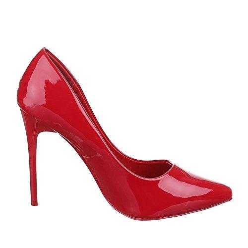 Ital-Design - Zapatos de Tacón Mujer rojo rosa