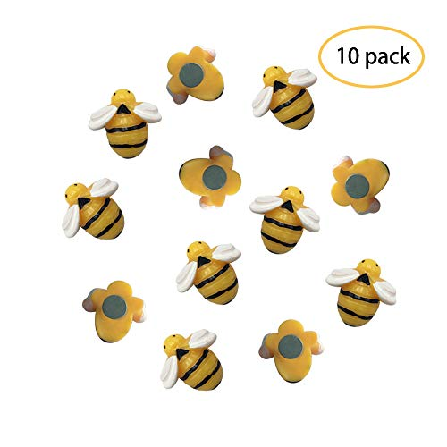 - FirstCover Refrigerator Magnets 10 Pcs Decorative Cute Bees Fridge Magnets Kitchen Colorful Magnets Office Magnets Fun Magnets Whiteboard Dry Erase Board Magnets (10 Bees)