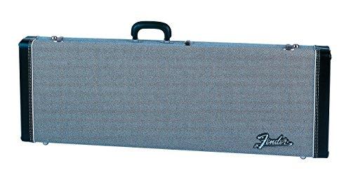 (Fender Deluxe Strat/Tele Case, Black Tweed w/ Black Interior)