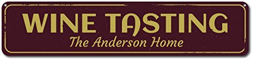 Custom Street Sign Wine Tasting Sign, Personalized Family...