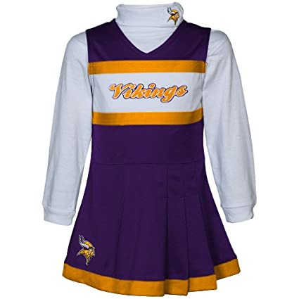 hot sale online 95832 0102b Amazon.com : Minnesota Vikings Toddler (2T-4T) Cheer Uniform ...