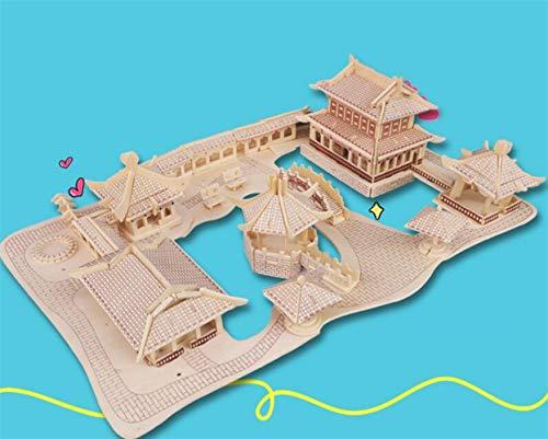 Whyyudan Jouet éducatif éducatif éducatif précoce Haute Qualité en Bois 3D Puzzle Jouet d'apprentissage Cadeaux Créatifs pour Les  s (Jardins De Suzhou) B07HDJRXQK 0e8c00