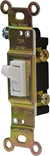 GE 54161HEP Household Single Pole Toggle Switch 15-Amp 120-volt, White