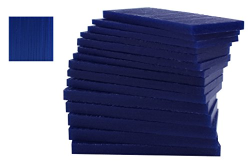 15 Piece Assortment of 1/2 Lb Blue Wax Carving Block Jewelry Pattern Making Machining Medium-Hard Melting Modeling Wax ()