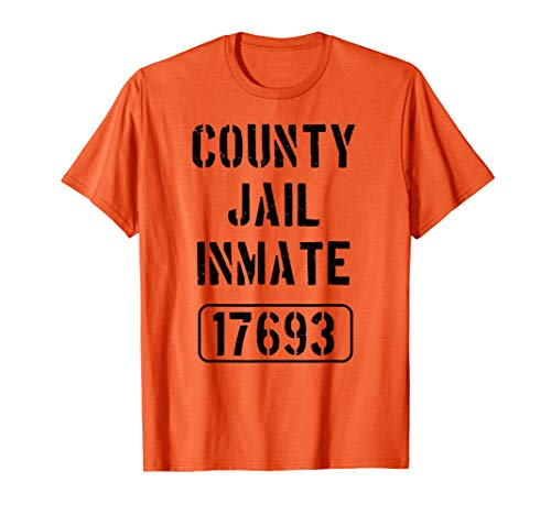 Prisoner Costume Tshirt | County Jail Inmate Funny