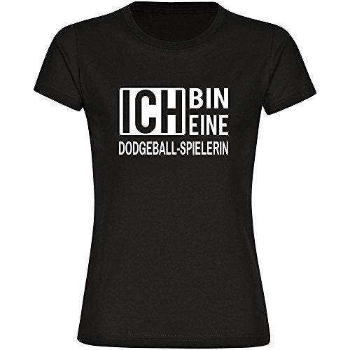 T-Shirt ich bin eine Dodgeball-Spielerin schwarz Damen Gr. S bis 2XL
