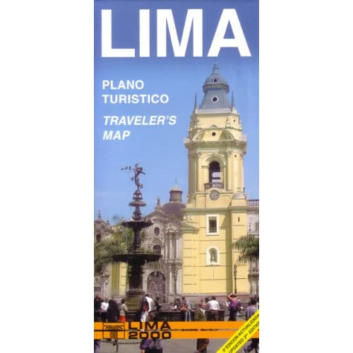 Lima, Peru Tourist Map (English and Spanish Edition)