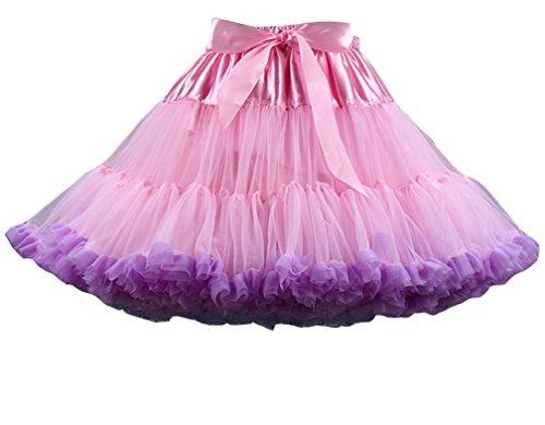 Leggero Balletti Bubble Frilly Gonna Gonna Pink Tutu Danza Ruffle Viola Ballet multistrato Donna Petticoat gzfqwxP6w