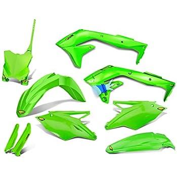 Polisport Complete Replica Plastic Kit 2005 Green//White for Kawasaki KX100 1998-2009