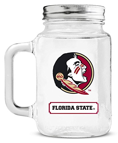 NCAA Florida State Seminoles 20oz Glass Mason Jar