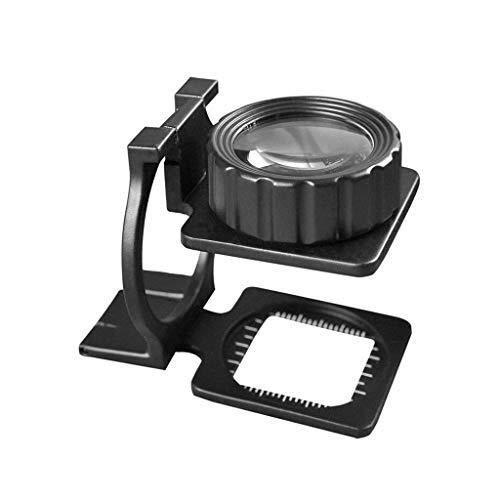 WHLMDZI High Magnification Magnifier - Desktop Magnifier - 20X Magnifier - Folding Lenses Optical Magnifier - Inspection, Hobby, Coins, Map, Jewelry - 70 X 40 X ()