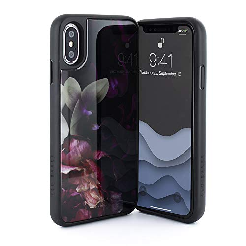 - Ted Baker Fashion HD Glass Case for iPhone X/XS, Protective Cover iPhone X/XS for Professional Women/Girls - Splendour