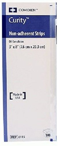 Curity Oil Emulsion Non Adherent Dressing, Sterile In packs of 3, 3