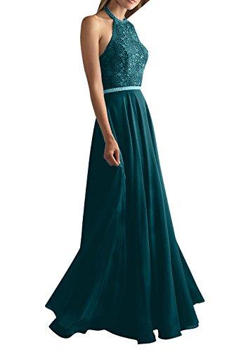Linie Abschlussballkleider Abendkleider La Chiffon A Brau Neckholder mia Spitze Lang Blau Partykleider Dunkel Brautmutterkleider xRRPqYzw