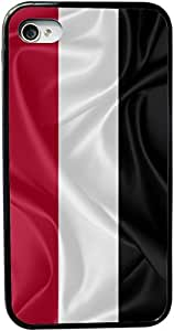 Rikki KnightTM Yemen Flag Design iPhone 5 & 5s Case Cover (Black Rubber with bumper protection) for Apple iPhone 5 & 5s