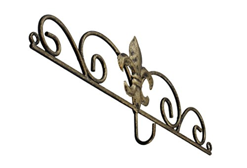 Decorative Fleur De Lis Wall Mounted Metal Calendar Hanger / Hook