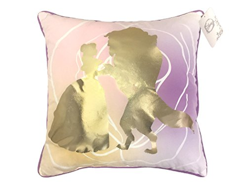 "Disney Princess Beauty & the Beast Belle En Rose 16"" Inch x 16"" Inch Decorative Toss/Throw Pillow (Official Product)"