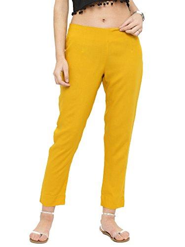 Women's Wide Leg Palazzo Pants Elastic Waist Loose Plain Casual Trouser Yoga (S) (Trouser Kameez)