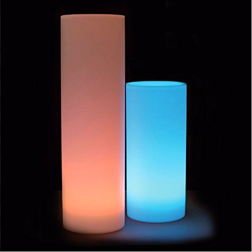 Colonne luminose, 70 cm, con led RGB, ricaricabili