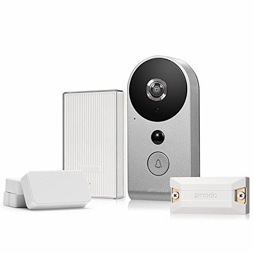 Zmodo Smart Greet Wi-Fi Video Doorbell – Smart Home Hub and WiFi Extender and 2 Pack Door/Window Sensors – All Inclusive Bundle