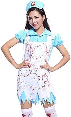 Jweal Halloween Fiesta Disfraces, Bloody Enfermera Disfraz Mujer ...