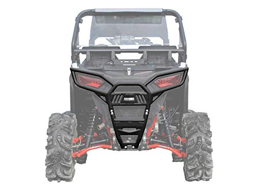 (SuperATV Heavy Duty Rear Bumper for Polaris RZR S 1000 (2016+) - Wrinkle Black)