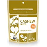 Navitas Naturals Organic Raw Cashews,  1 Pound  Pouch (Pack of 2)