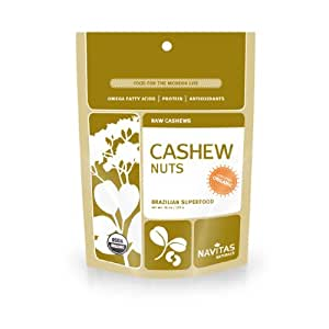 Navitas Organics Cashews, 1 Pound Pouch (Pack of 2)
